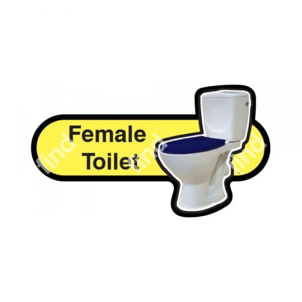 dementia signage toilet yellow