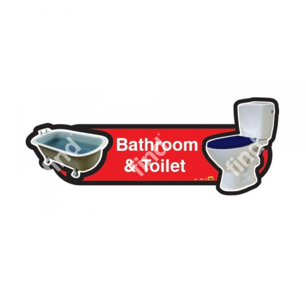 dementia signage bathroom and toilet red/blue