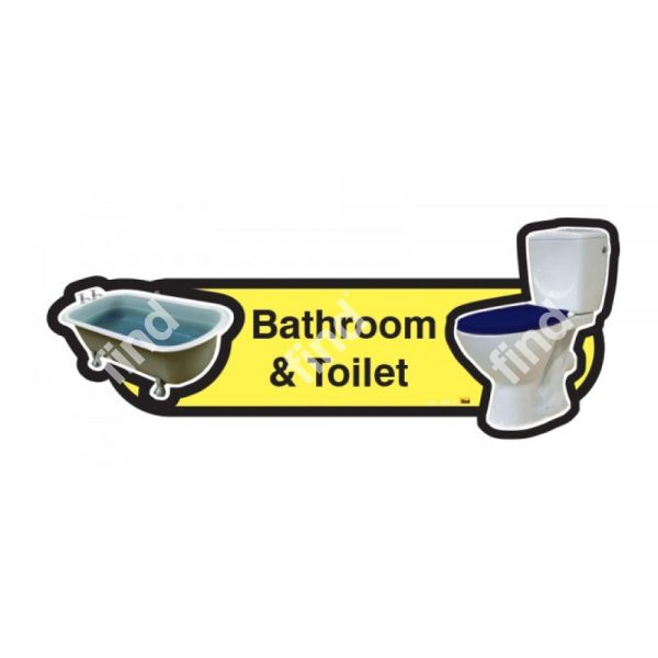 dementia signage bathroom and toilet yellow