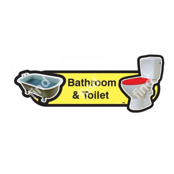 dementia signage bathroom and shower yellow