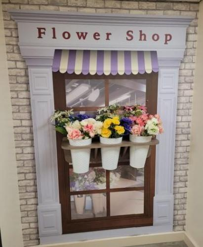 Flower shop in an alcove